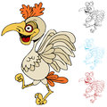 Cartoon chicken an image of a Stock Photos