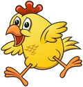 Cartoon chicken vector of with funny expression Stock Image
