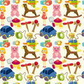 Cartoon child toy seamless pattern Stock Image