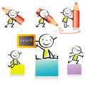 Cartoon children Stock Images