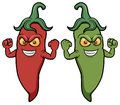 Cartoon chili peppers vector illustration of Royalty Free Stock Photos
