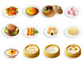 Cartoon chinese food icon set Royalty Free Stock Photo