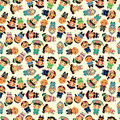 Cartoon Chinese people seamlese pattern Royalty Free Stock Images