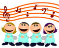 Cartoon choir Stock Photo