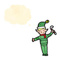Cartoon christmas elf Stock Images