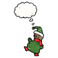 Cartoon christmas elf Stock Image