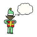 Cartoon christmas elf Royalty Free Stock Photo