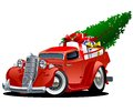 Cartoon Christmas Pickup Royalty Free Stock Photo