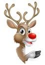 Cartoon Christmas Reindeer Royalty Free Stock Photo