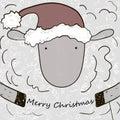 Cartoon Christmas sheep.