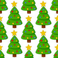 Cartoon Christmas Tree Seamless Pattern Royalty Free Stock Photo