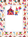 Cartoon circus card Stock Images