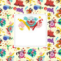 Cartoon circus card Stock Image