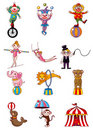 Cartoon circus icon Stock Photography