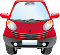 Cartoon city car illustration featuring front view of a red isolated on white background eps file is available Royalty Free Stock Image