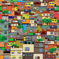 Cartoon city seamless pattern design Stock Photography