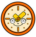 Cartoon clock Stock Images