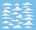 Cartoon cloud set Royalty Free Stock Photo