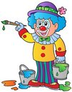 Cartoon clown artist Royalty Free Stock Images