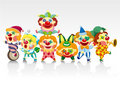 Cartoon clown card Royalty Free Stock Image