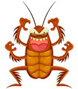 Cartoon cockroach making a scary face Royalty Free Stock Photo