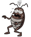 Cartoon cockroach vector illustration of Royalty Free Stock Photo