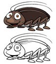 Cartoon cockroach vector illustration of Royalty Free Stock Image