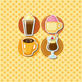 Cartoon coffee card Royalty Free Stock Photos