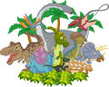 Cartoon Collection dinosaur character Royalty Free Stock Photo