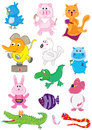 Cartoon Color Cute Set_eps Royalty Free Stock Photos
