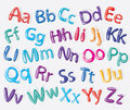 Cartoon colorful alphabet vector illustrated Royalty Free Stock Photo