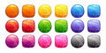 Cartoon colorful buttons set. Royalty Free Stock Photo
