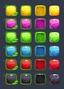 Cartoon colorful vector square buttons Royalty Free Stock Photo