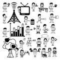 Cartoon Concepts Vectors of Communication and Professions