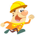 Cartoon construction worker with white background Royalty Free Stock Photography