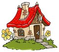 Cartoon Cottage Royalty Free Stock Photography