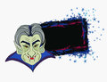 Cartoon count dracula grunge halloween frame illustration Stock Photo