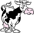 Cartoon cow Stock Photo