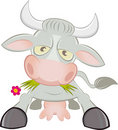 Cartoon cow character Stock Photo