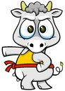 Cartoon cow vector of with funny expression Royalty Free Stock Images