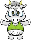 Cartoon cow vector of with funny expression Stock Images