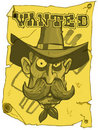 Cartoon cowboy wanted poster Royalty Free Stock Images