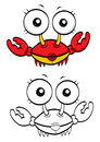 Cartoon crab Royalty Free Stock Photos