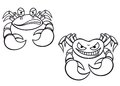Cartoon crabs Stock Images