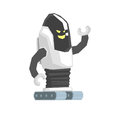 Cartoon crawler robot cyborg character vector Illustration Royalty Free Stock Photo