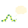 Cartoon crawling caterpillar Stock Photography