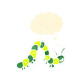 Cartoon crawling caterpillar Royalty Free Stock Photography