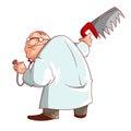 Cartoon crazy doctor