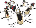 Cartoon crazy nuts high resolution jpeg layered files available Royalty Free Stock Images