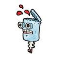 cartoon crazy robot head Royalty Free Stock Photo
